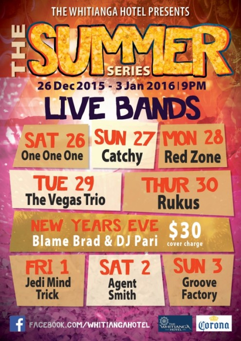 Summer Series Live Bands The Whitianga Hotel