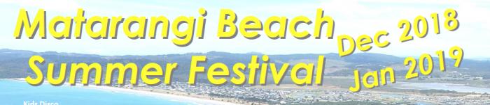 Matarangi Beach Summer Festival Events