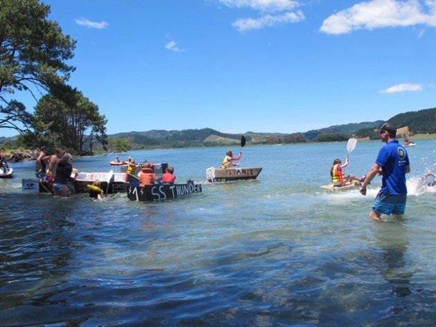Cardboard cup event Matarangi Beach Summer Festival
