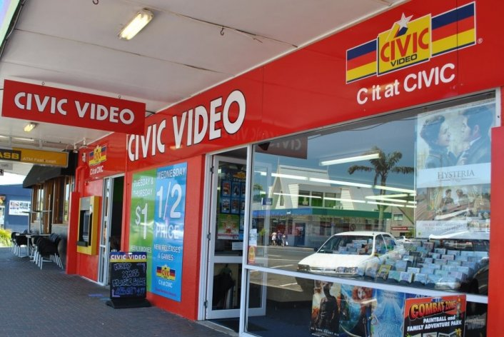 Civic Video Whitianga movie and dvd rental