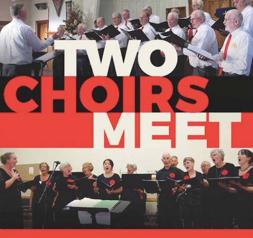 Two Choirs Meet Mercury Bay Community Choir and Male Voices Waikato