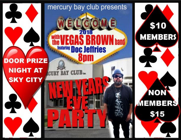 New Years Eve at Mercury Bay Club