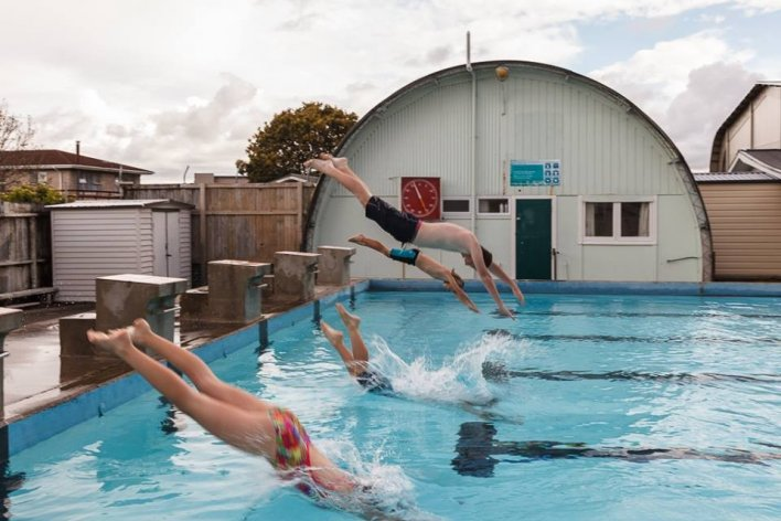 Mercury Bay Community Pool swimmers off the blocks in Whitianga