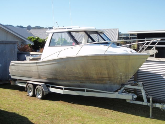 Boat designed and manufactured by Alipro Engineering Whitianga