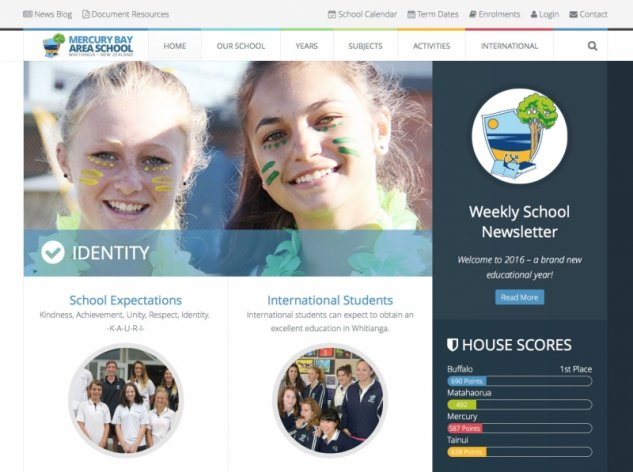 Mercury Bay Area School Website