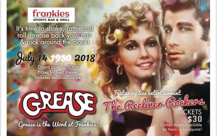 Grease mega party Frankies Bar and Grill Whitianga